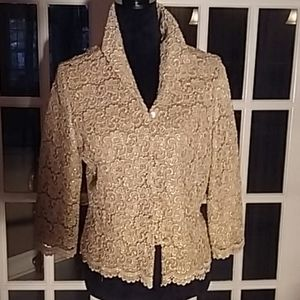 Gold embroidered lace jacket